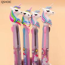 24PCS or 48 Pcs/lot Unicorn Cartoon 3 Colors Chunky Ballpoint Pen School Office Supply Gift Stationery Papelaria Escolar
