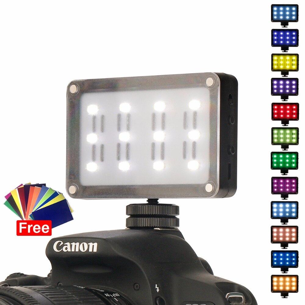 Ulanzi en la Cámara llevó la luz Video bolsillo foto estudio luz con filtros geles de Color para DSLR Zhiyun Smooth 4 SPG VS Aputure AL-M9
