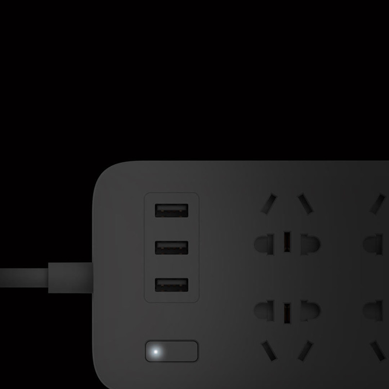 XiaoMi Mi Smart Power Strip 6 Ports with 3 USB Fast Charging 2.1A USB Power Plug Charger Socket US UK EU AU Power strip H15 (14)
