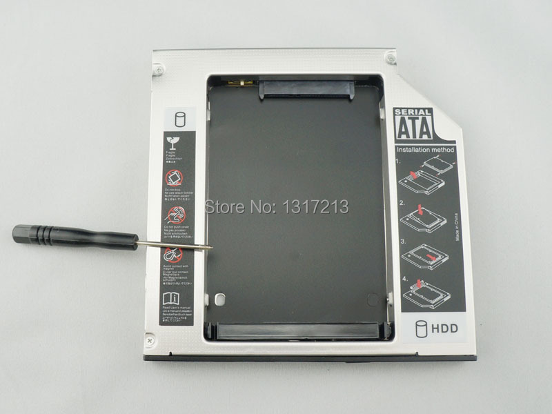 FOR New 2ND HDD HARD DRIVE HDD SATA caddy adapter dell E5400 E5500 12.7mm thick SATA