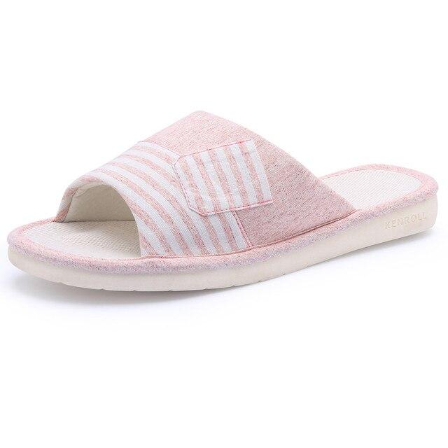 247403a7b KENROLL 2017 New Arrival Women s Linen Cotton Slippers Soft Comfortable  Moisture Wicking Flax Skid Proof Flip Flops Shoes Sandal