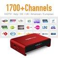 Europa IPTV Caja de la Tv Androide Bluetooth 6.0 y 1700 + Holanda Turco Francés Árabe IPTV Canales de Fuerte WIFI 2 GB/16G TV Player