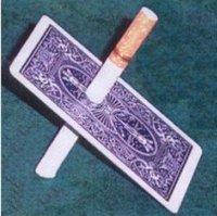Cigarette Thru Card Blue Gimmick Card Card Magic Illusions Card Tricks Stage Magic Mental Free Shipping