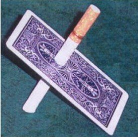Cigarette Thru Through Card Magic Tricks Professional Magician Close Up Illusions Gimmick Props Comedy Card Magia