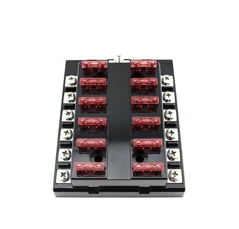 12v 6 12 way blade fuse box bus bar kit car boat marine fusebox holder