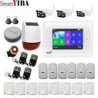 SmartYIBA WI FI GSM Беспроводной дома Бизнес охранной Системы приложение Управление Siren RFID детектор движения PIR дым Сенсор