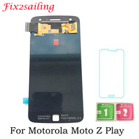 Super Amoled Screen For Motorola Moto Z Play LCD Display XT1635 Touch Screen assembly 100% Tested LCDS with Tempered Glass