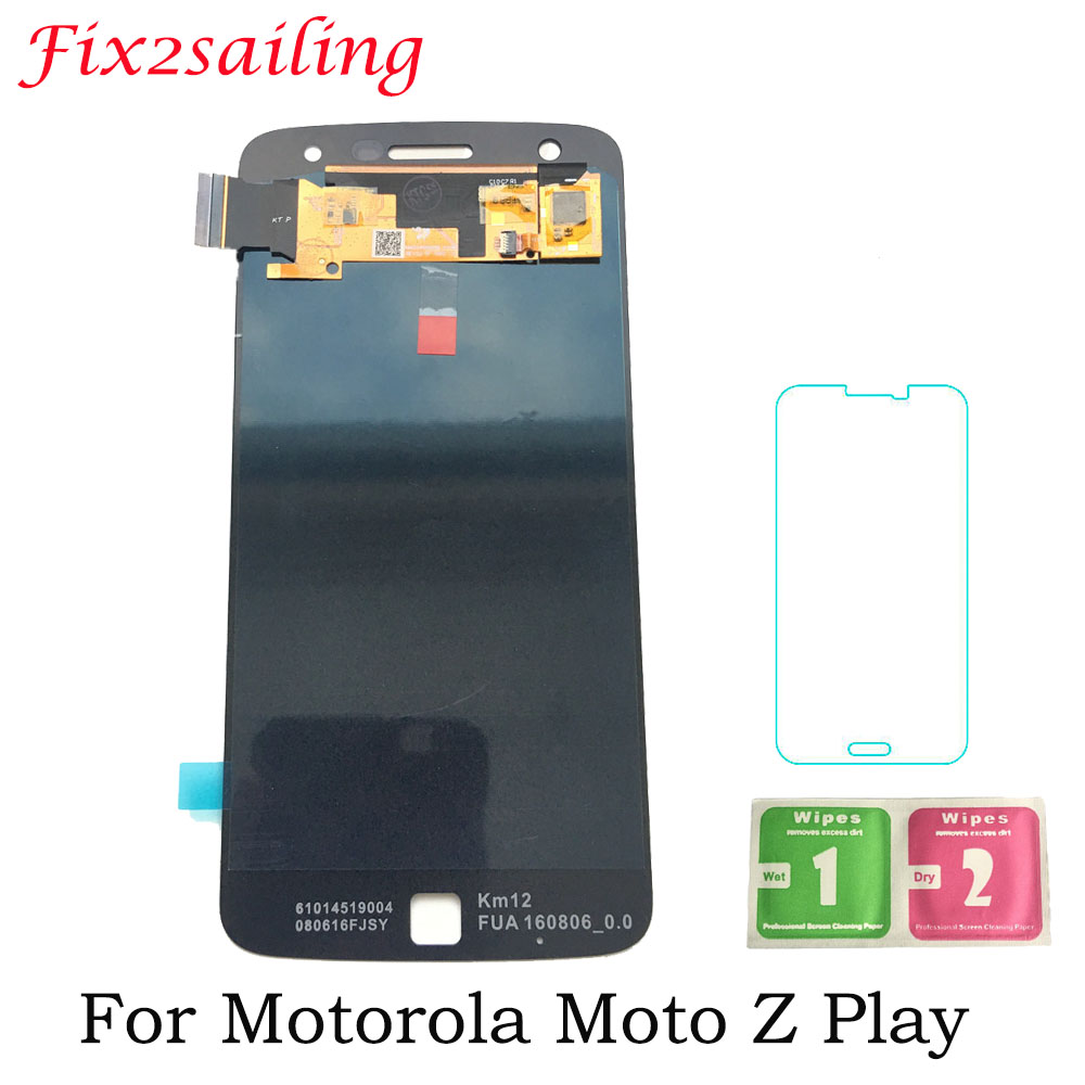 Super Amoled Screen For Motorola <font><b>Moto</b></font> <font><b>Z</b></font> <font><b>Play</b></font> <font><b>LCD</b></font> Display <font><b>XT1635</b></font> Touch Screen assembly 100% Tested LCDS with Tempered Glass image