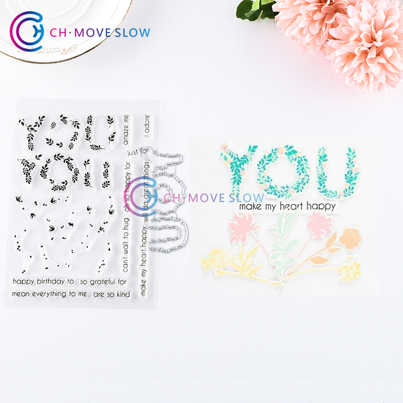 Happy Birthday Thank You Metal Cutting Dies Craft DIY Card Embossing Decors New