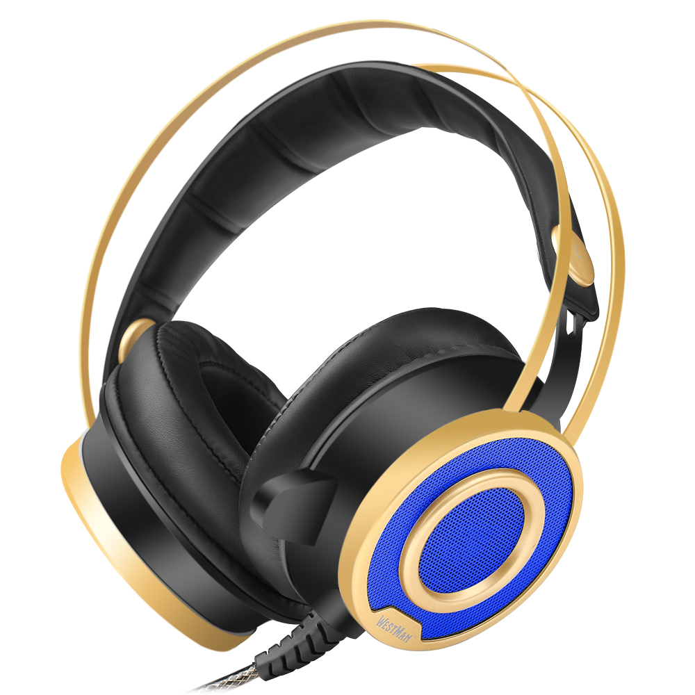 Gaming Headphones Headset with Sound USB Stereo Over Ear Noise Isolating Over-ear headphones with Mic LED Light for PC computer high quality sound effect gaming headset with led light over ear glowing stereo headphones with mic for computer pc laptop gamer