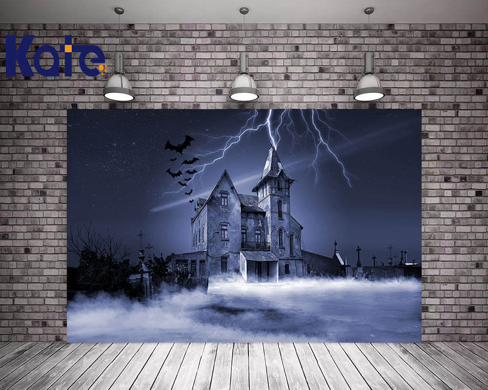 Kate Halloween Backdrops Photography Children Castle Background Bat For Halloween Party Photo Studio Backdrop kate photo background black and white striped backdrop wedding backdrops children photo background for photo studio