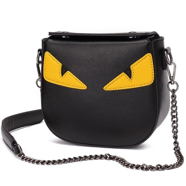 ebb29117bada Fashion Eye Monster Women Messenger Bags Mini Shoulder Bag Famous Brands  Designer Handbags Ladies Female Small