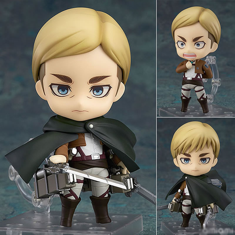 10 CENTIMETRI di trasporto Originale Nendoroid Attacco su Titano Erwin Smith ABS e PVC Dipinta action figure toy doll collection con la scatola10 CENTIMETRI di trasporto Originale Nendoroid Attacco su Titano Erwin Smith ABS e PVC Dipinta action figure toy doll collection con la scatola