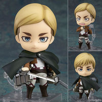 10CM Original Nendoroid Attack on Titan Erwin Smith ABS & PVC Painted action figure collection toy doll with box