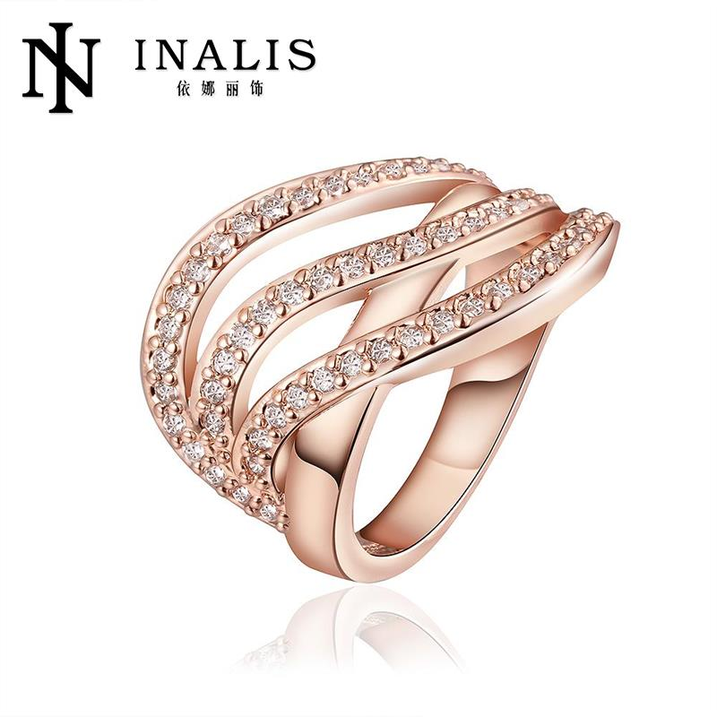 R671-B Wholesale High Quality Nickle Free Antiallergic New Fashion Jewelry  GoldPlated Ring