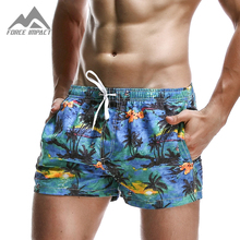 Бермуды pattern дышащая совета досуг эластичный пляж коротким пояс печати лето