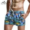Nueva Moda de Los Hombres Respirables Pantalones Cortos de Verano de La Cintura Elástica Pantalones Cortos de Los Hombres de Ocio Patrón de Impresión Playa Bermudas Hombres Corto 2PF70