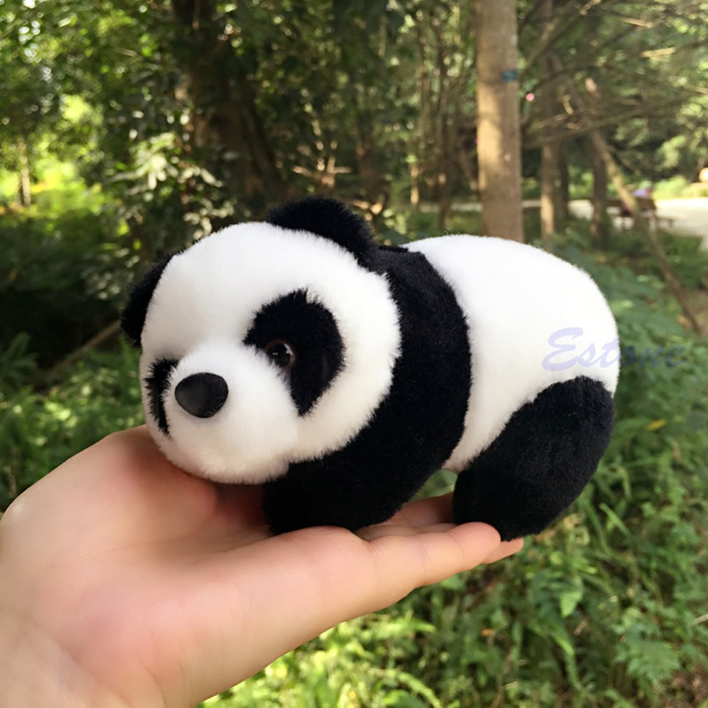 16cm Lovely Super Cute Stuffed Kid Animal Soft Plush Panda Gift Present Doll Toy lovely 35cm rainbow alpaca vicugna pacos lama arpakasso alpacasso stuffed plush doll toy kid gift