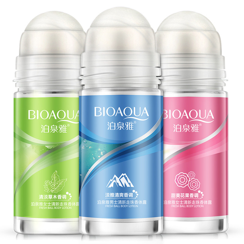 Дезодорант BIOAQUA с шариками для тела, антиперспиранты, рулон на бутылке, женский и мужской ароматизатор, гладкие и сухое парфюмы|deodorant roll on|underarm deodorantroll on deodorant | АлиЭкспресс