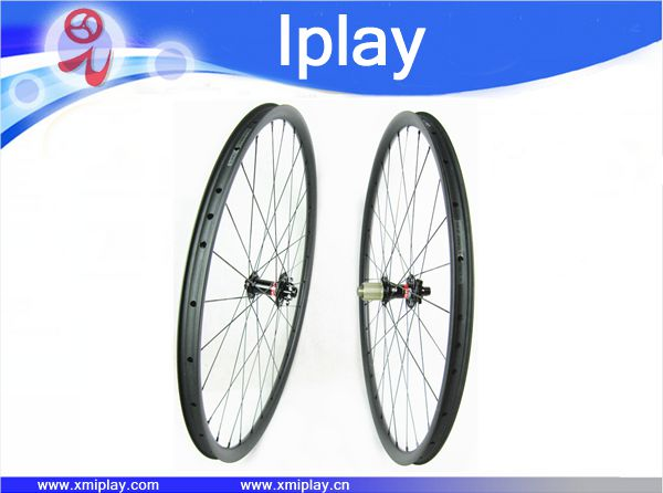 Chinese carbon fiber disc wheel cheap mtb wheels 27.5er clincher wheelset 24.5x25mm with Novatec 711 712 QR hubs 28/32H