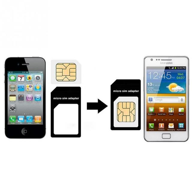 Iphone 4s Sim Karte.Us 0 64 Hohe Qualität 4 In 1 Micro Sim Adapter Nano Sim Karte Adapter Für Apple Iphone 4 4 S 5 5 S 5c Mit Karte Pin In Hohe Qualität 4 In 1 Micro