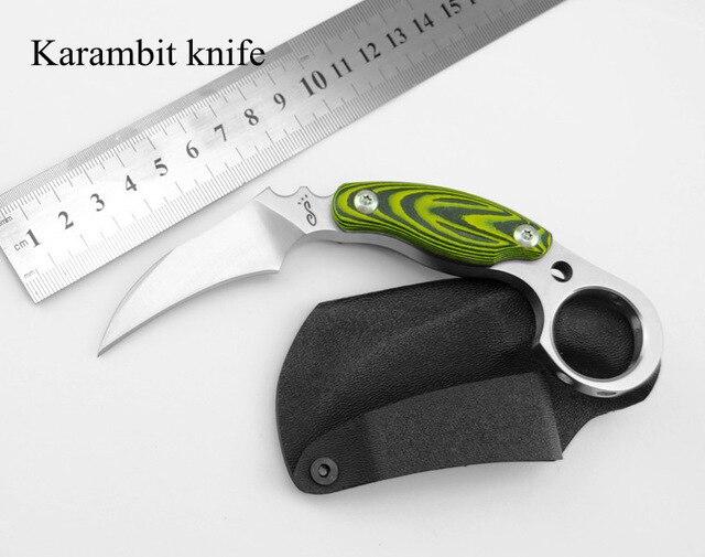 D2 Steel Blade Micarta Handle CS Go Karambit font b Knife b font Hunting font b