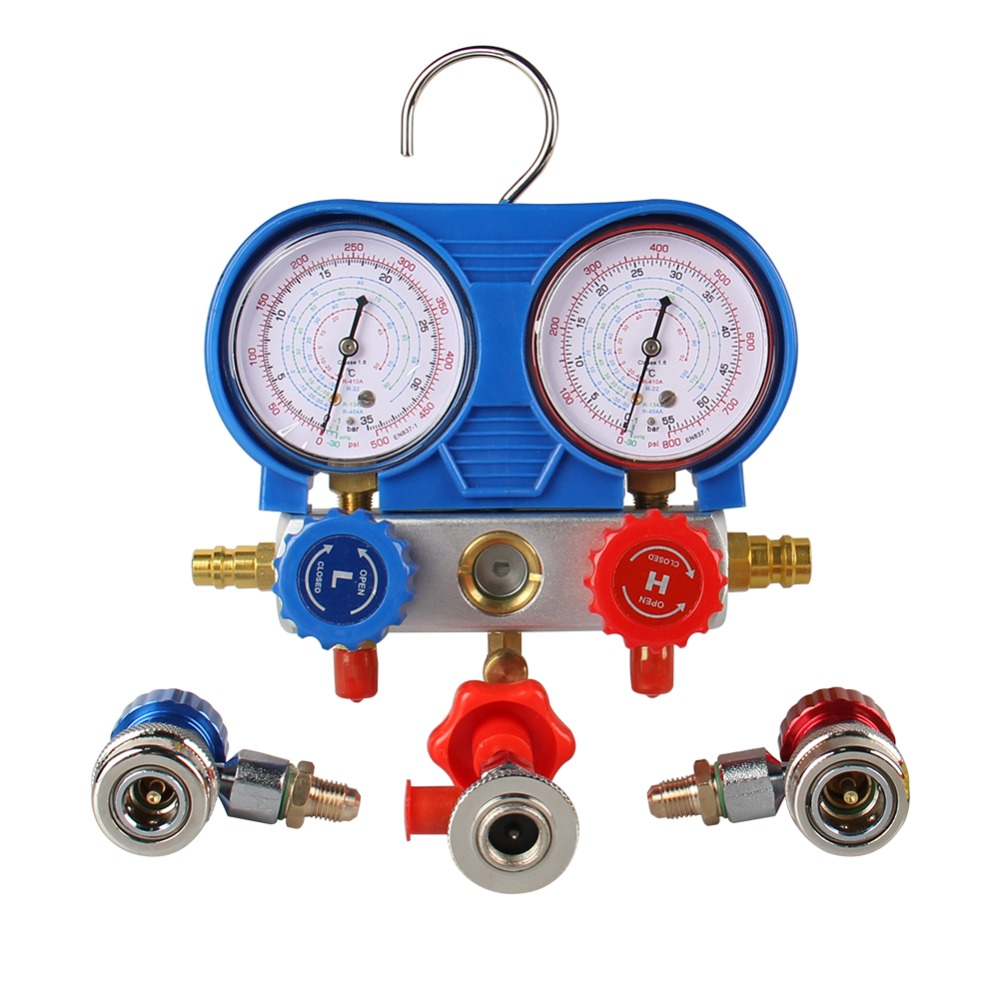 A//C AC Diagnostic Manifold Gauge Set for R22 R12 R134-A