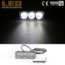 1x Super Bright 1200LM Daytime Running Light font b Lamp b font White 3 LED 12W
