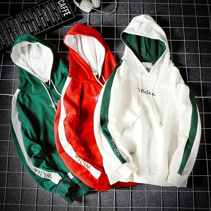 Streetwear Sudadera Con Hip Capucha Verde Patchwork Sudaderas blanco 5xl M 2018 Tamaño Y Hop Nueva rojo 4YEqCw5