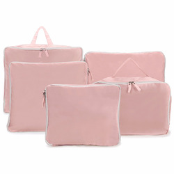 Mayitr 5PCS Travel Clothes Storage Bags Waterproof Nylon Suitcase Packing Cube Luggage Zipped Organizer Pouch Clothing Bag