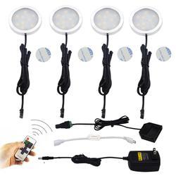 Aiboo ramach szafka LED oświetlenie krążki świetlne Downlight reflektory 11-key RF pilot zdalnego sterowania możliwość przyciemniania dla blat kuchenny szafa