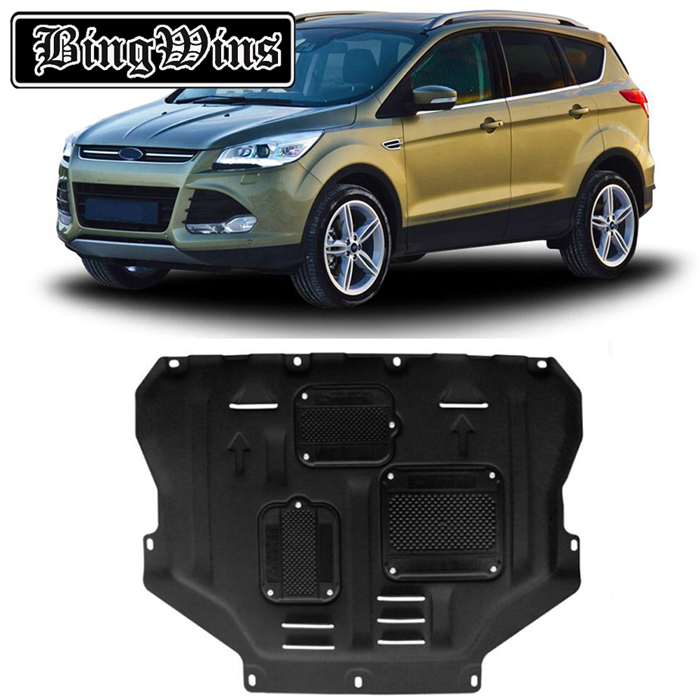 US $126 0 30% OFF|BINGWINS Car styling For Ford Kuga Escape plastic steel  engine guard For Ford Escape 2013 2018 Engine skid plate fender 1pc-in