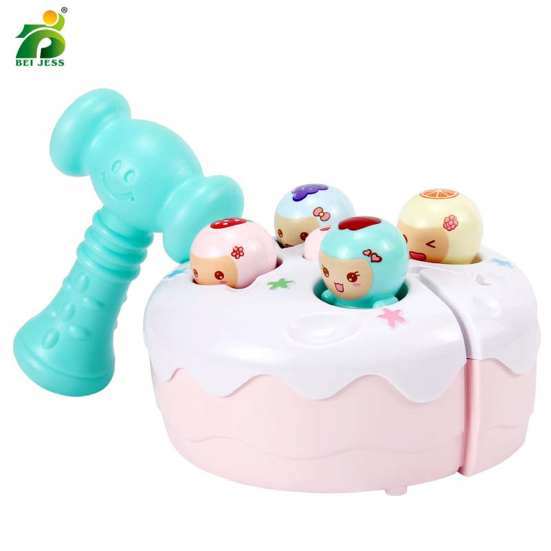 Birthday Cake Hammer Knock Glittering Toy Music Party Noise Maker Musical Instruments Educational Kids Gifts BEI