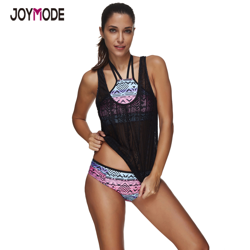 JOYMODE Brazilian Bikini 2017 Swimming Suit For Women Beach Cover Up Plus Size Swimwear Women Bathing Suit Ladies Bikini set -D