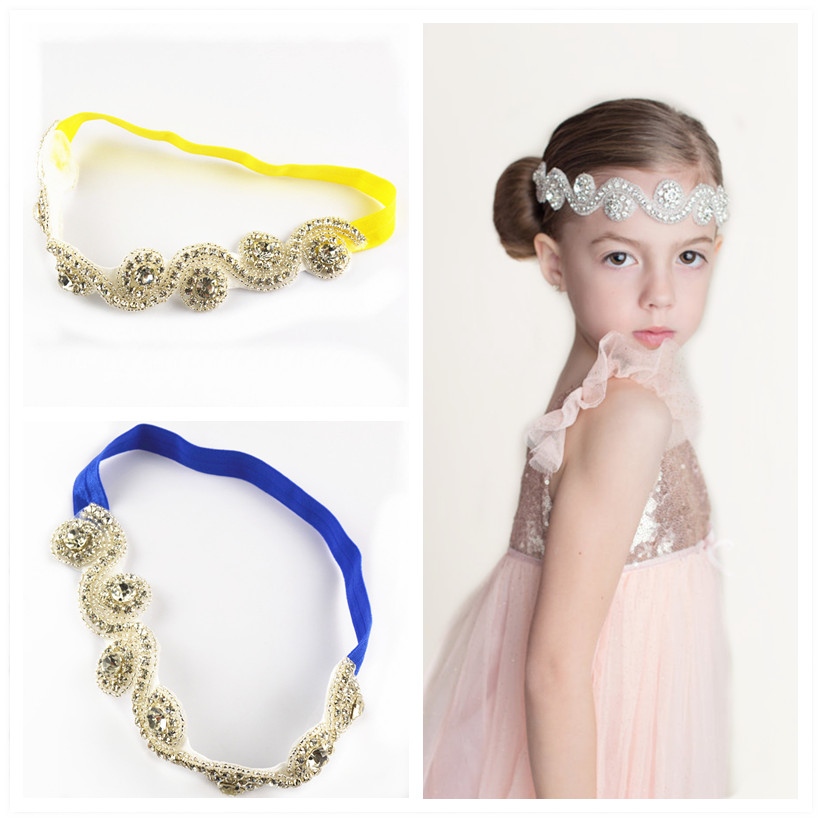 10pcs/lot Top Quality Luxury Decoration  Rhinestones Headband 12C In Stock Europe And America Fashion Hairbands For Girls FDA12