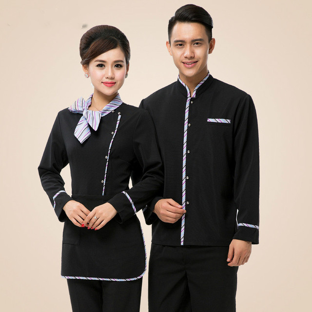 Top+Apron Restaurant Waiter Uniform For Men Women Hotel