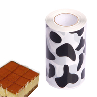Cake Mousse Surrounding Edge Cake Packaging Tools Baking Sheet Food Grade Thicken Dessert Wrapping Paper Cake Mould Tableware