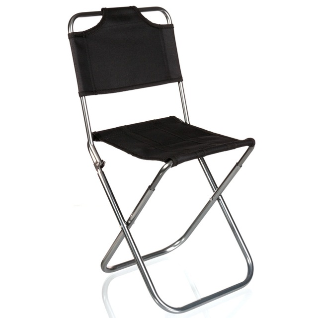 Brand High Quality Black Aluminum Folding Grill Portable Stool Chair  Fishing Chairs Bag Outdoor Travel Fishing