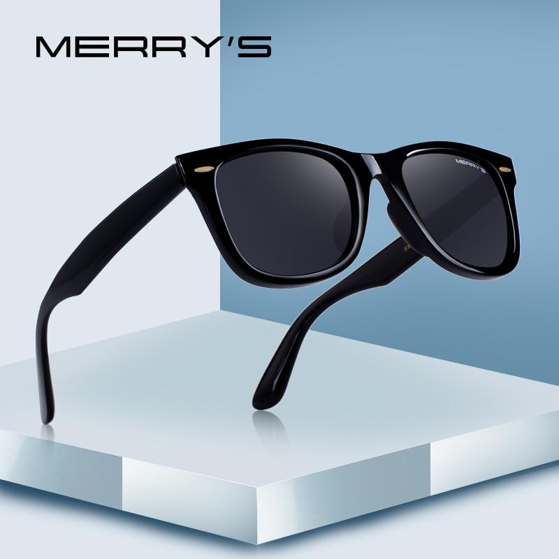 MERRYS DESIGN Hombres / Mujeres Clásico Retro Remache Gafas de sol polarizadas 100% Protección UV S8140