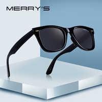 MERRYS di DISEGNO Uomini/Donne Classic Retro Rivet Occhiali Da Sole Polarizzati Occhiali Da Sole 100% Protezione UV S8140