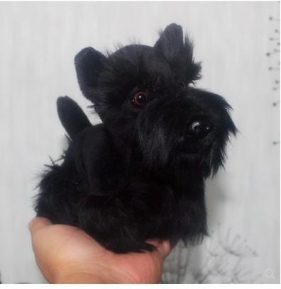 Image 3 - Original lovely  Schnauzer Pet Dog Simulation Animal Soft Stuffed Plush Toy for children Birthday Gift friend girlfreind  GiftStuffed & Plush Animals   -