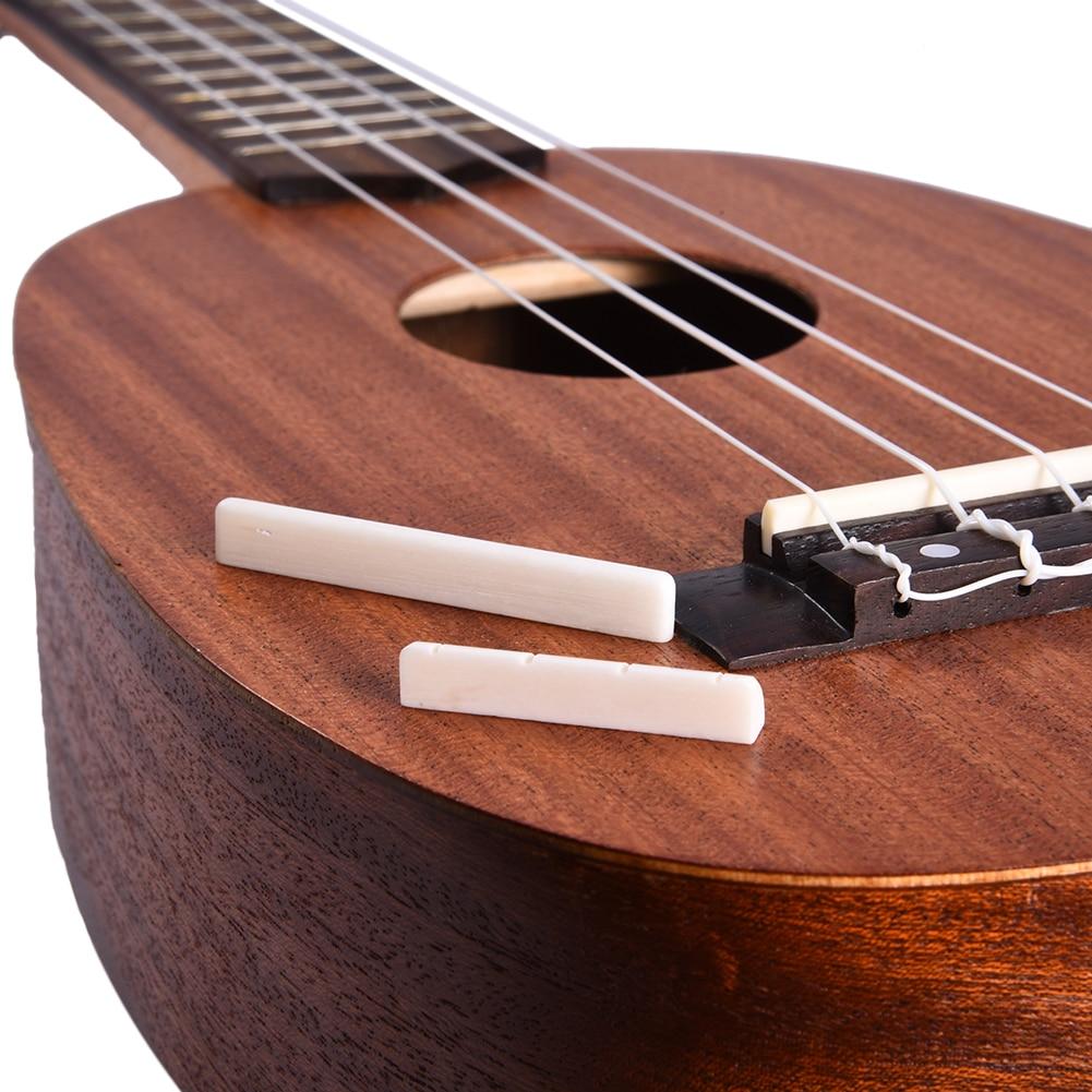 Musical Instruments Guitar Parts Accessories 1 Set Ukulele Plastic Saddle Nut For Ukulele 4 String Tie Bridge Dropshipping Sports & Entertainment