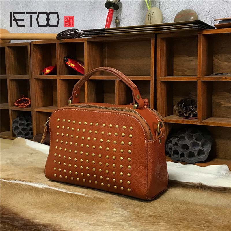 444cef1b3b4b aetoo tree cream retro bag wash water vegetable tan skin fashion lady handbag  AETOO Tree cream