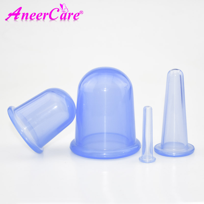 4 Pcs Vacuum Cupping Set Massager Health Monitors Product Cans Opener Pull Family Body Face Massager Helper Anti Cellulite brand new 1 set 4 pcs health care body anti cellulite silicone vacuum massage eye neck face back massager cupping cup 100% hot