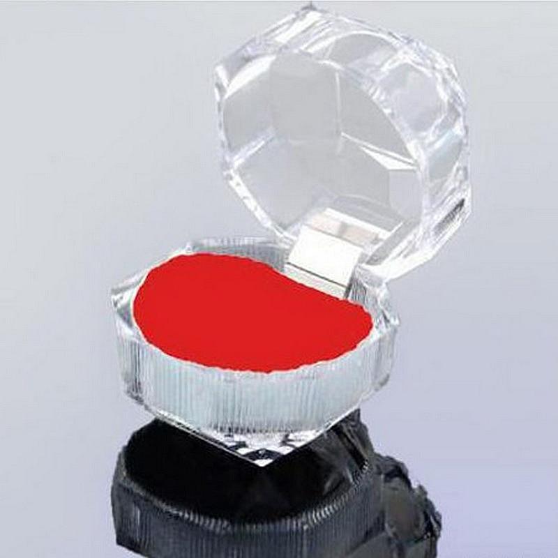 3.9*3.9cm Transparent imitation crystal ring box acrylic jewelry box earrings jewelry box gift box