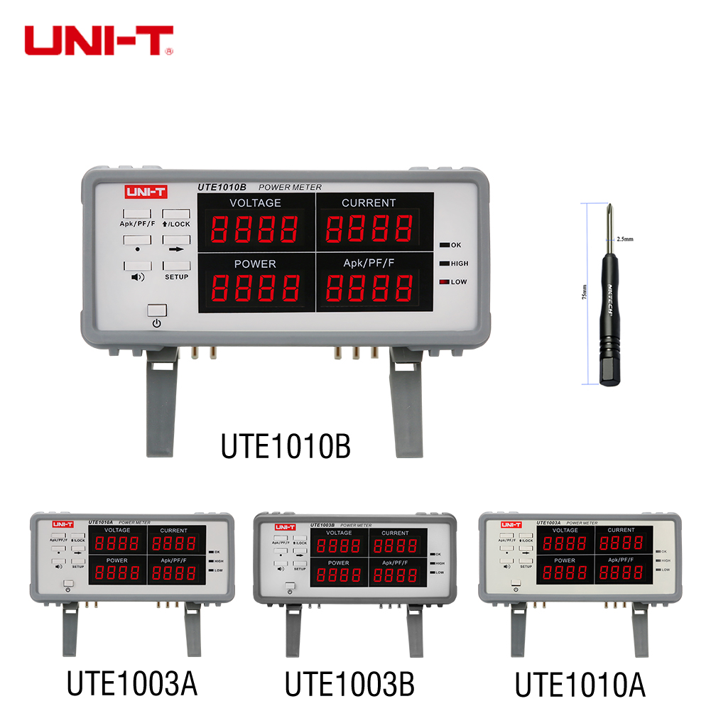 цена UNI-T UTE1010B UTE1010A UTE1003A UTE1003B Bench True RMS Voltage Current Digital Power Factor Power Meter Analyzer 3KW Free DHL