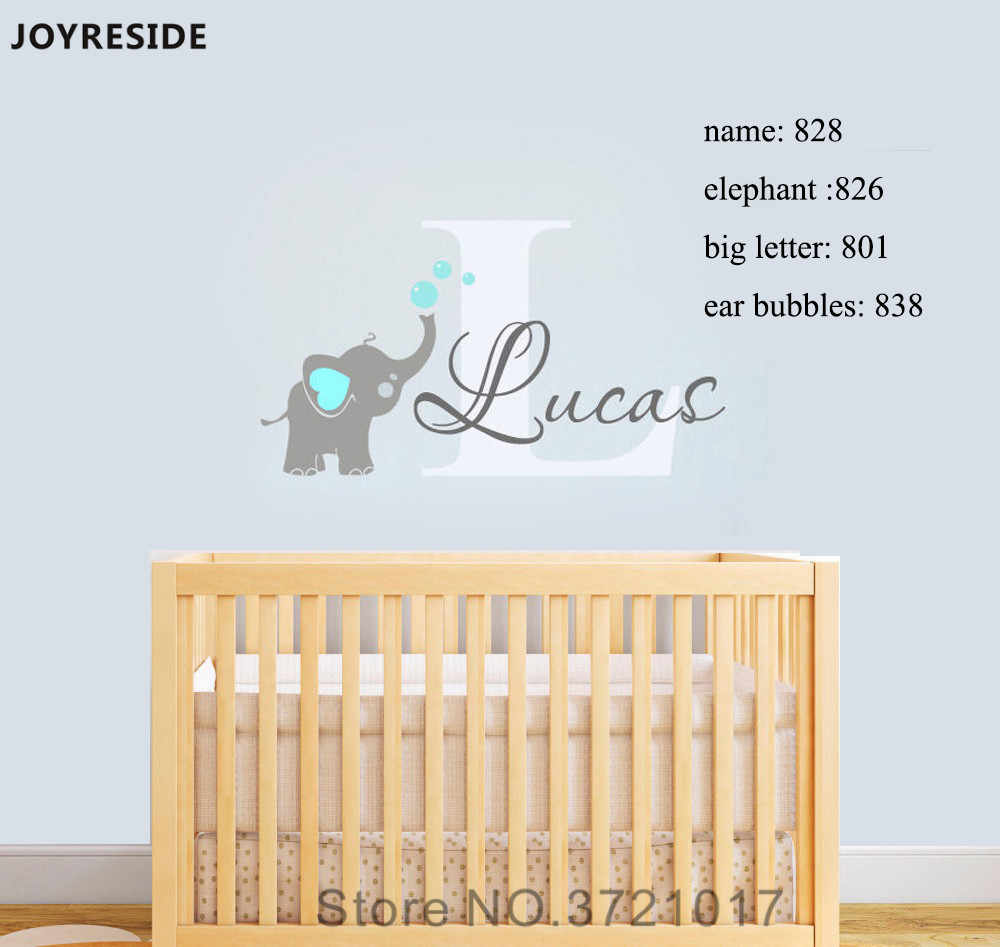 Decal Wall Decals Baby Bedroom Elephant