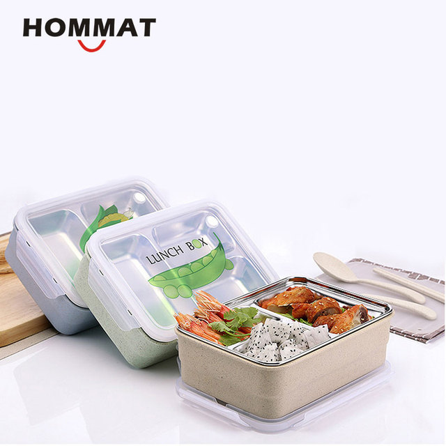 Japanese Lunch Box Bento Box with Compartments Stainless