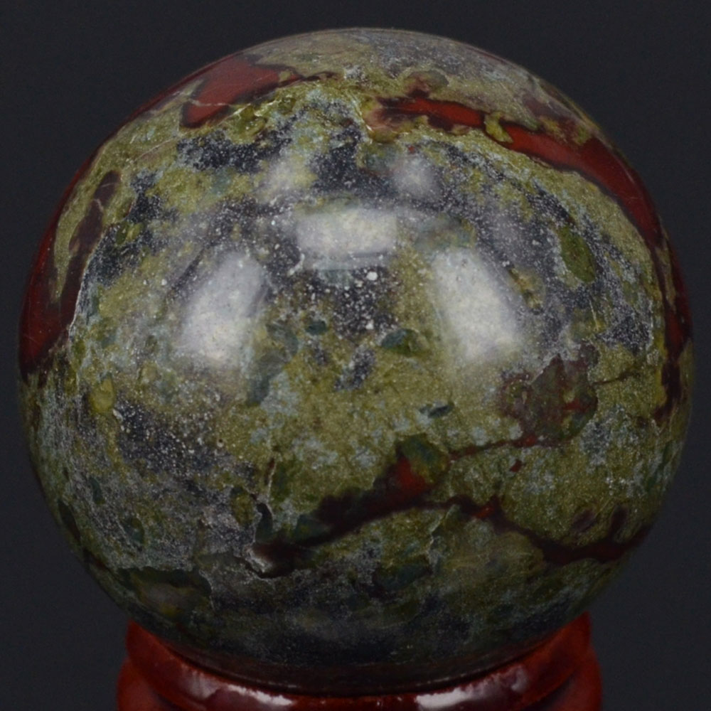 40MM Natural Stone Dragon Blood Stone Sphere Ball Chakra