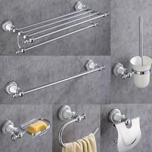 AOBITE Chrome Bathroom Accessories Set Wall Mount Towel Rack Hardware Hanging Bath Toilet Shelf Sets 5300